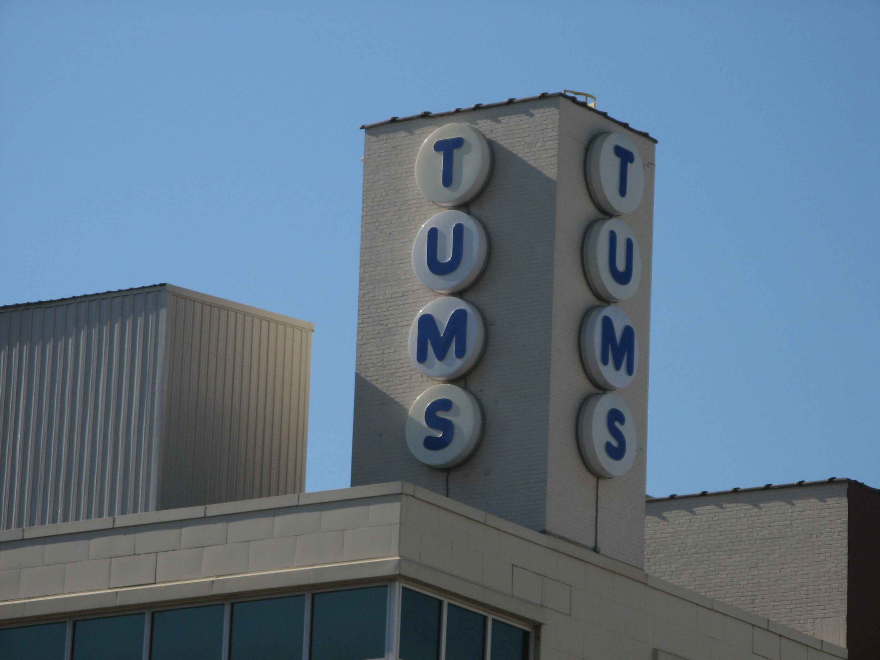 Built 1888, last downtown factory in St Lou. Tums were invented in 1928.