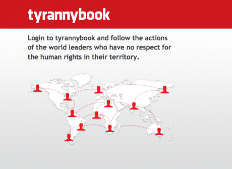 Screenshot of tyrannybook.com - May 6, 2010