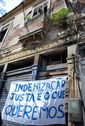 'We want fair compensation,' reads sign in the eviction-threathened Campinho community in Rio [credit: Renato Cosentino]