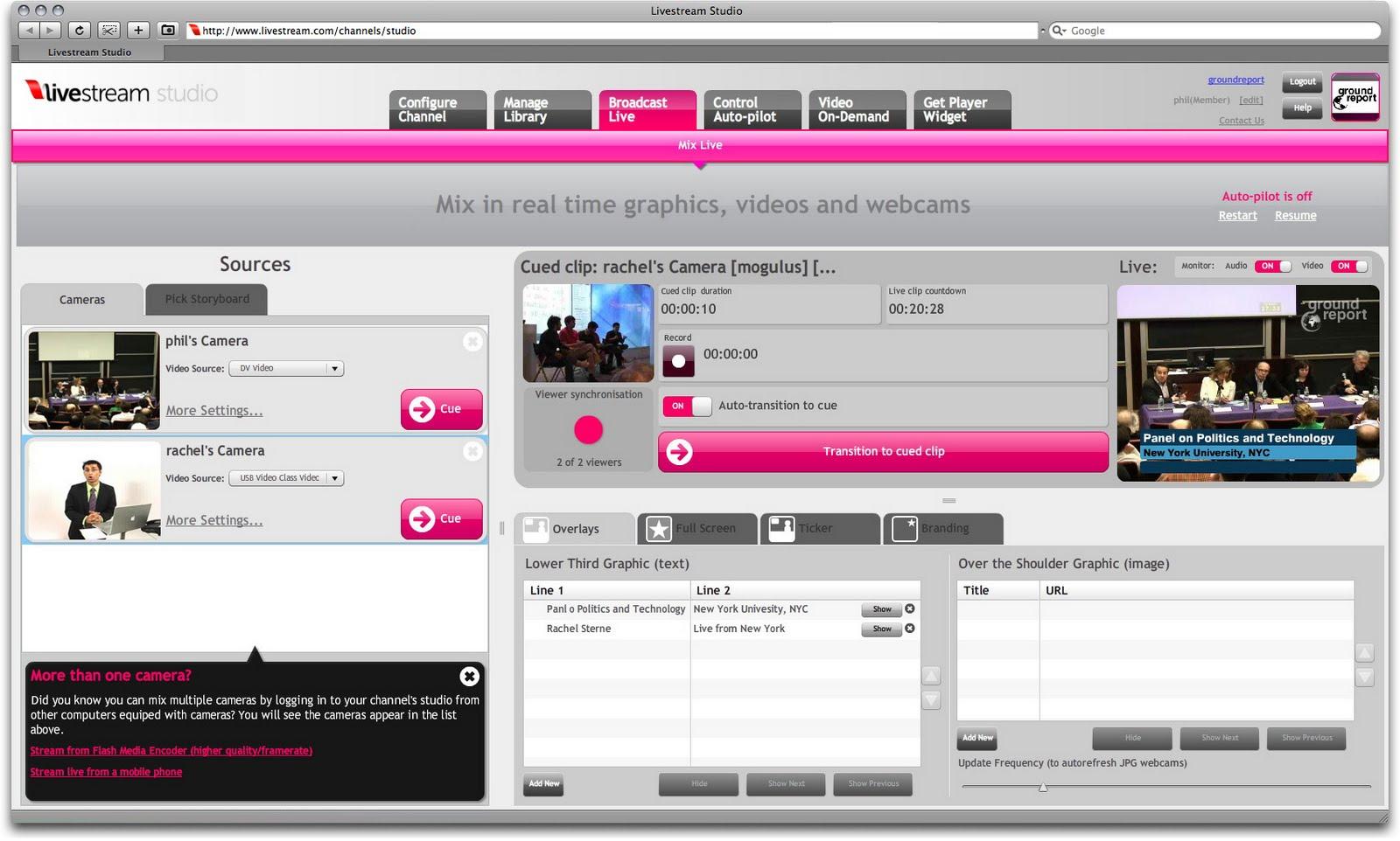 LiveStream.com Studio