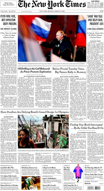 NYTimesFrontpage_BrazilFE_4March2012