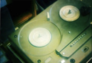 Audio tape recording device. Photo courtesy Columbia University's Center for Oral History.