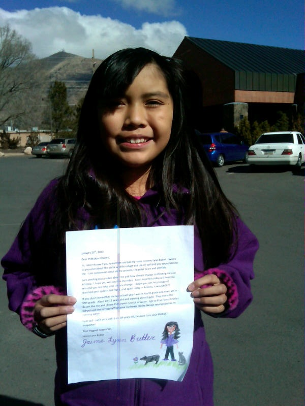 Jaime wrote six times to President Obama, who replied personally.