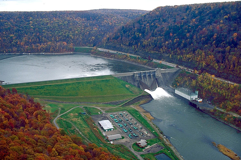 THe Kinzua Dam, which Sainte-Marie protested in her song.