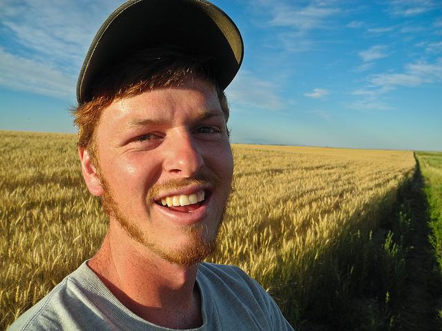 John Thiebes at his Farm in Carter, Montana