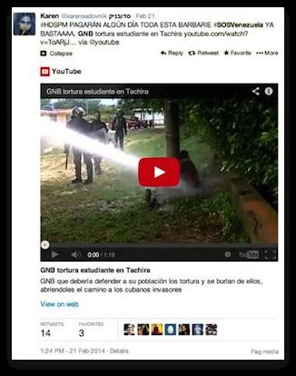 Twitter Post - Venezuela