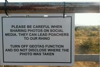 Photo by Eleni de Wet poachers using geotags