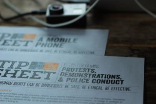WITNESS' tip sheet for filming protests and police conduct