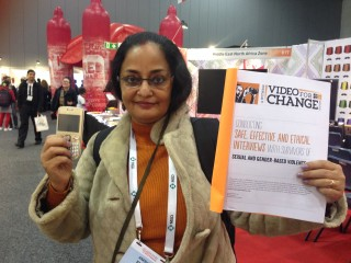 Dr. Anasua (from India) at the AIDS2014
