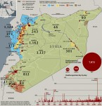UN map of violence in Syria.