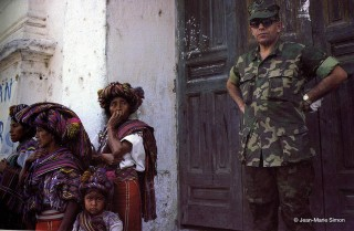 Military occupation of the Guatemalan highlands, 1982. Photo by Jean-Marie Simon. Courtesy Skylight Pictures